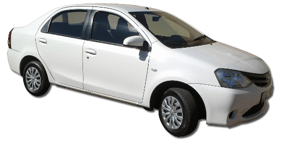 Car Rental Johannesburg - Toyota Etios 1.5 Sedan